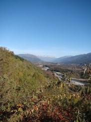 panoramica rio azul con tres picos